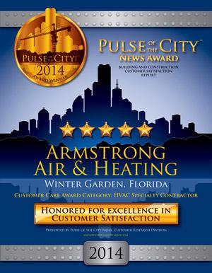 Pulse of the City News 2014 Award Winner, Armstrong Air & Heating