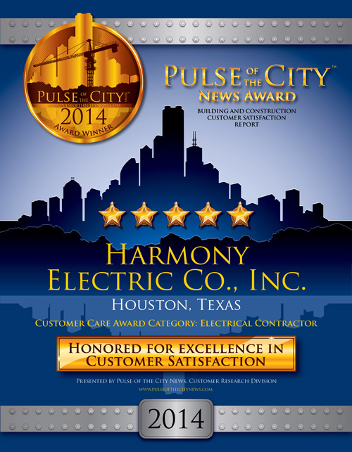 Pulse of the City News 2014 Award Winner, Harmony Electric Co.