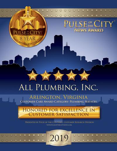 All Plumbing Inc. wins 2019 Pulse Award