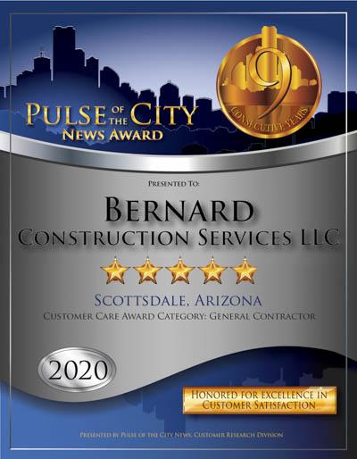 Bernard Construction Services, LLC wins 2020 Pulse Award