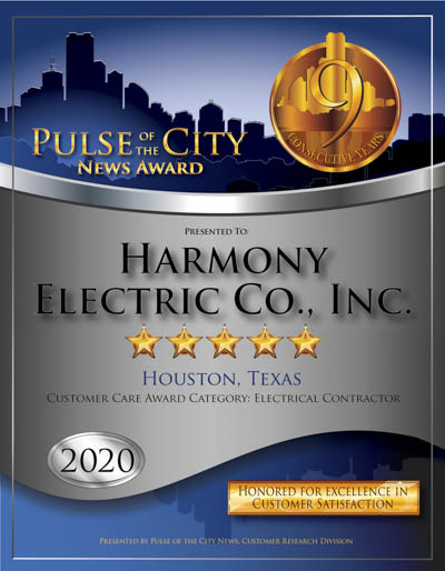 Harmony Electric Co., Inc. wins 2020 Pulse Award