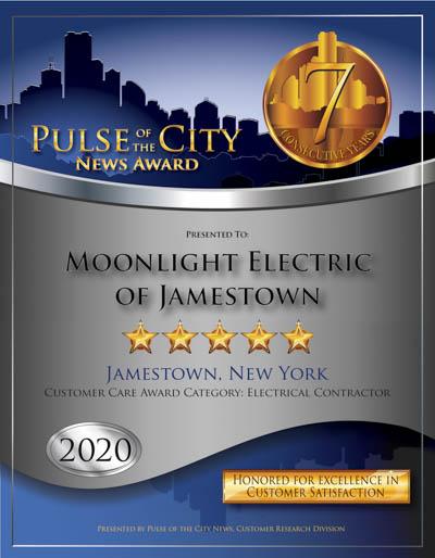 Moonlight Electric of Jamestown wins 2020 Pulse Award