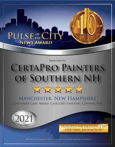 CertaPro Painters of Southern NH wins 2021 Pulse Award