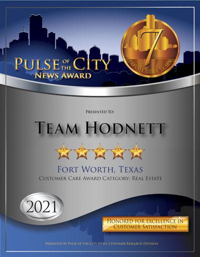 Keller Williams Team Hodnett wins 2021 Pulse Award